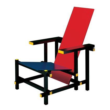 635 Red and Blue チェア(chair)